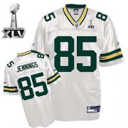 Wholesale Cheap Packers #85 Greg Jennings White Super Bowl XLV Stitched NFL Jersey