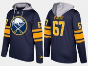 Wholesale Cheap Sabres #67 Benoit Pouliot Blue Name And Number Hoodie