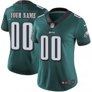 Wholesale Cheap Nike Philadelphia Eagles Customized Midnight Green Team Color Stitched Vapor Untouchable Limited Women's NFL Jersey