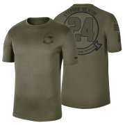 Wholesale Cheap New England Patriots #24 Stephon Gilmore Olive 2019 Salute To Service Sideline NFL T-Shirt
