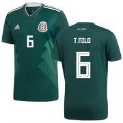 Wholesale Cheap Mexico #6 T.Nilo Green Home Soccer Country Jersey