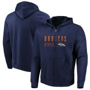 Wholesale Cheap Denver Broncos Majestic Hyper Stack Full-Zip Hoodie Navy