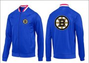 Wholesale Cheap NHL Boston Bruins Zip Jackets Blue-1