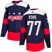 Wholesale Cheap Adidas Capitals #77 T.J. Oshie Navy Authentic 2018 Stadium Series Stitched NHL Jersey