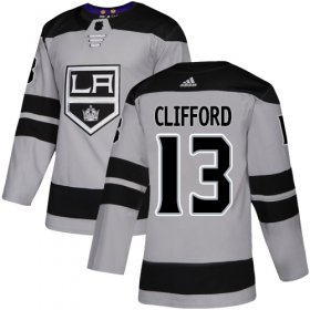 Wholesale Cheap Adidas Kings #13 Kyle Clifford Gray Alternate Authentic Stitched NHL Jersey