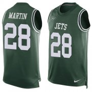 Wholesale Cheap Nike Jets #28 Curtis Martin Green Team Color Men's Stitched NFL Limited Tank Top Jersey