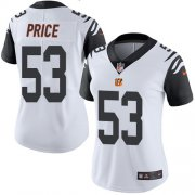 Wholesale Cheap Nike Bengals #53 Billy Price White Women's Stitched NFL Limited Rush Jersey