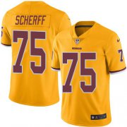 Wholesale Cheap Nike Redskins #75 Brandon Scherff Gold Youth Stitched NFL Limited Rush Jersey