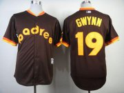 Wholesale Cheap Padres #19 Tony Gwynn Coffee 1984 Turn Back The Clock Stitched MLB Jersey