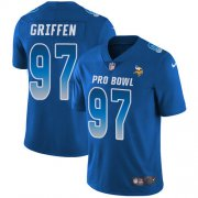 Wholesale Cheap Nike Vikings #97 Everson Griffen Royal Men's Stitched NFL Limited NFC 2018 Pro Bowl Jersey