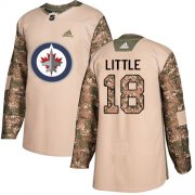Wholesale Cheap Adidas Jets #18 Bryan Little Camo Authentic 2017 Veterans Day Stitched NHL Jersey