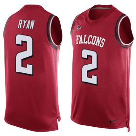 Wholesale Cheap Nike Falcons #2 Matt Ryan Red Team Color Men\'s Stitched NFL Limited Tank Top Jersey