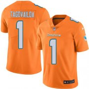 Wholesale Cheap Nike Dolphins #1 Tua Tagovailoa Orange Men's Stitched NFL Limited Rush Jersey
