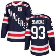 Wholesale Cheap Adidas Rangers #93 Mika Zibanejad Navy Blue Authentic 2018 Winter Classic Stitched Youth NHL Jersey