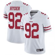 Wholesale Cheap Nike 49ers #92 Kerry Hyder White Men's Stitched NFL Vapor Untouchable Limited Jersey