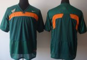 Wholesale Cheap Miami Hurricanes Blank Green Jersey