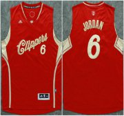 Wholesale Cheap Los Angeles Clippers #6 DeAndre Jordan Revolution 30 Swingman 2015 Christmas Day Red Jersey