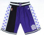 Wholesale Cheap Men's Sacramento Kings 2015 PurpleBlack Short