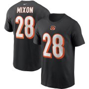 Wholesale Cheap Cincinnati Bengals #28 Joe Mixon Nike Team Player Name & Number T-Shirt Black