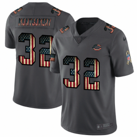 Wholesale Cheap Nike Bears #32 David Montgomery 2018 Salute To Service Retro USA Flag Limited NFL Jersey