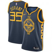 Wholesale Cheap Men's Golden State Warriors #35 Kevin Durant Nike Navy 2019 Swingman City Edition Jersey