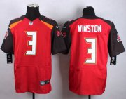 Wholesale Nike Buccaneers #3 Jameis Winston Red Team Color Men's Stitched NFL New Elite Jersey