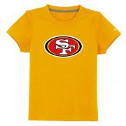 Wholesale Cheap San Francisco 49ers Sideline Legend Authentic Logo Youth T-Shirt Yellow