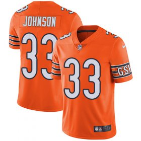 Wholesale Cheap Nike Bears #33 Jaylon Johnson Orange Men\'s Stitched NFL Limited Rush Jersey