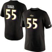 Wholesale Cheap Nike Baltimore Ravens #55 Terrell Suggs Pride Name & Number NFL T-Shirt Black