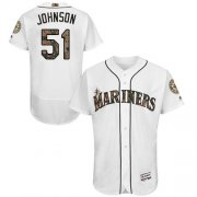 Wholesale Cheap Mariners #51 Randy Johnson White Flexbase Authentic Collection Memorial Day Stitched MLB Jersey