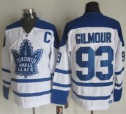 Wholesale Cheap Maple Leafs #93 Doug Gilmour White CCM Throwback Winter Classic Stitched NHL Jersey