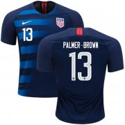 Wholesale Cheap USA #13 Palmer-Brown Away Kid Soccer Country Jersey