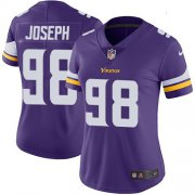 Wholesale Cheap Nike Vikings #98 Linval Joseph Purple Team Color Women's Stitched NFL Vapor Untouchable Limited Jersey