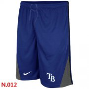 Wholesale Cheap Nike MLB Tampa Bay Rays Performance Training Shorts Blue