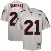 Wholesale Cheap Youth Atlanta Falcons #21 Deion Sanders Mitchell & Ness Platinum NFL 100 Retired Player Legacy Jersey