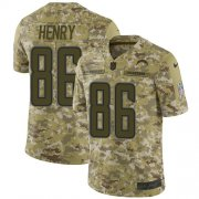 Wholesale Cheap Nike Chargers #86 Hunter Henry Camo Youth Stitched NFL Limited 2018 Salute to Service Jersey