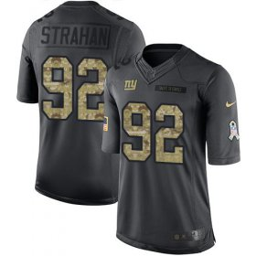Wholesale Cheap Nike Giants #92 Michael Strahan Black Men\'s Stitched NFL Limited 2016 Salute to Service Jersey