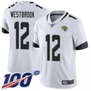 Wholesale Cheap Nike Jaguars #12 Dede Westbrook White Men's Stitched NFL 100th Season Vapor Limited Jersey