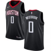 Wholesale Cheap Nike Rockets #0 Russell Westbrook Black NBA Swingman Statement Edition Jersey