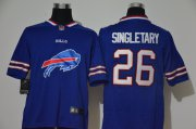 Wholesale Cheap Men's Buffalo Bills #26 Devin Singletary Royal Blue 2020 Big Logo Vapor Untouchable Stitched NFL Nike Fashion Limited Jersey