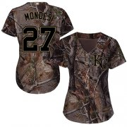 Wholesale Cheap Royals #27 Raul Mondesi Camo Realtree Collection Cool Base Women's Stitched MLB Jersey