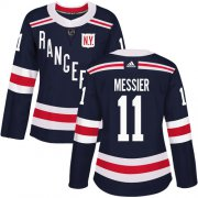 Wholesale Cheap Adidas Rangers #11 Mark Messier Navy Blue Authentic 2018 Winter Classic Women's Stitched NHL Jersey