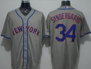 Wholesale Cheap Mets #34 Noah Syndergaard Grey New Cool Base Stitched MLB Jersey