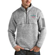 Wholesale Cheap Men's Kansas City Chiefs NFL Heather Gray Super Bowl LIV Bound Fortune Quarter-Zip Pullover Jacket