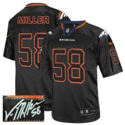 Wholesale Cheap Nike Broncos #58 Von Miller Lights Out Black Men's Stitched NFL Elite Autographed Jersey