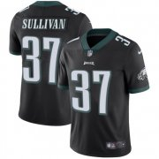 Wholesale Cheap Nike Eagles #37 Tre Sullivan Black Alternate Men's Stitched NFL Vapor Untouchable Limited Jersey