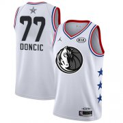 Wholesale Cheap Mavericks #77 Luka Doncic White Basketball Jordan Swingman 2019 All-Star Game Jersey