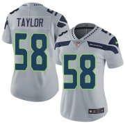 Wholesale Cheap Nike Seahawks #58 Darrell Taylor Grey Alternate Women's Stitched NFL Vapor Untouchable Limited Jersey