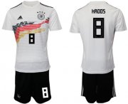 Wholesale Cheap Germany #8 Kroos White Home Soccer Country Jersey