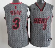 Wholesale Cheap Miami Heat #3 Dwyane Wade Gray Static Fashion Jersey